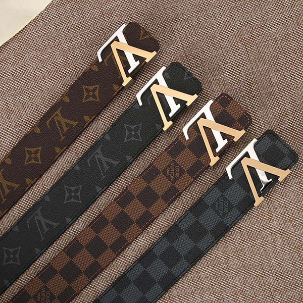 LV MENS BELT GENUINE LEATHER ORIGINAL QUALITY