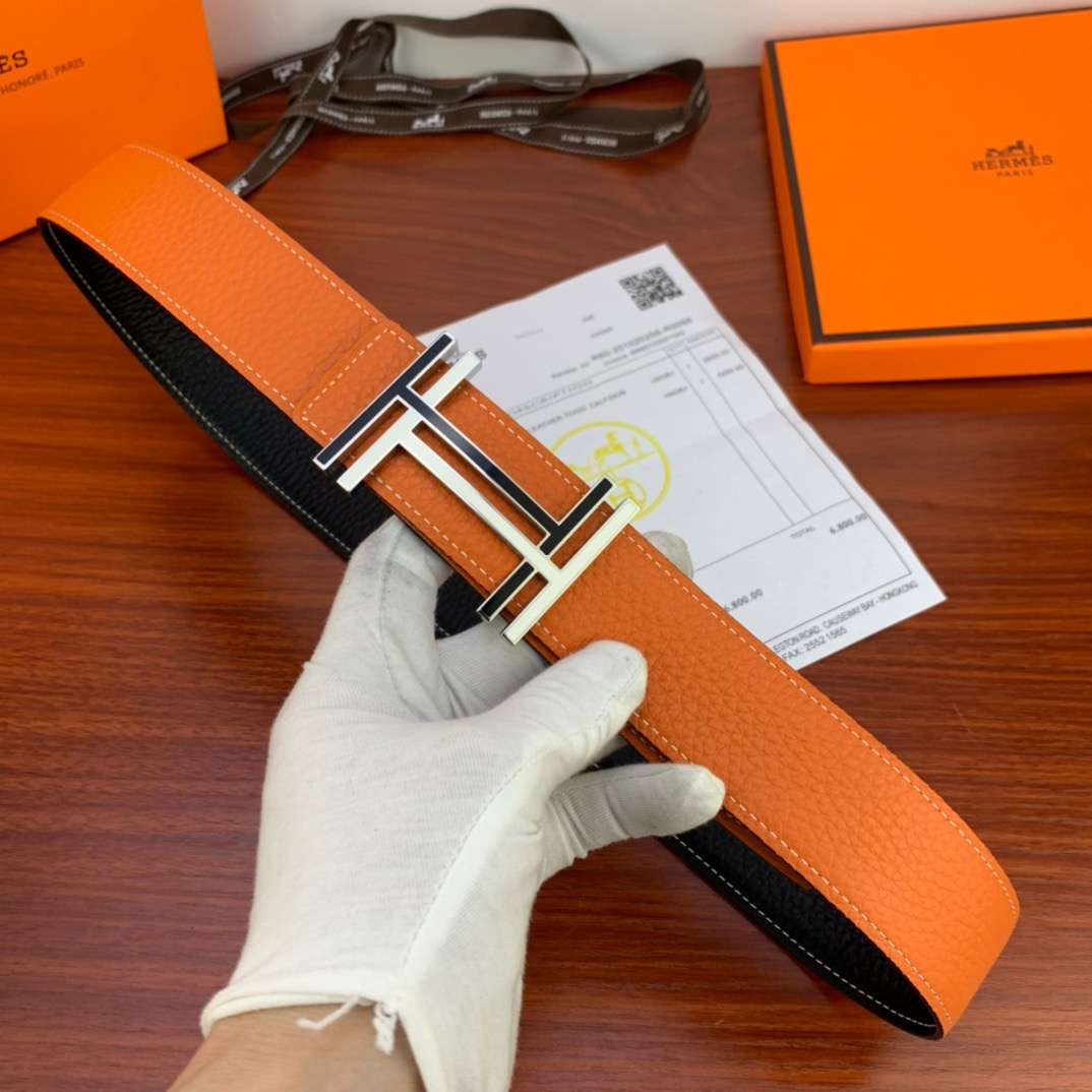 NEW HERMES MENS BELT GENUINE LEATHER ORIGINAL QUALITY