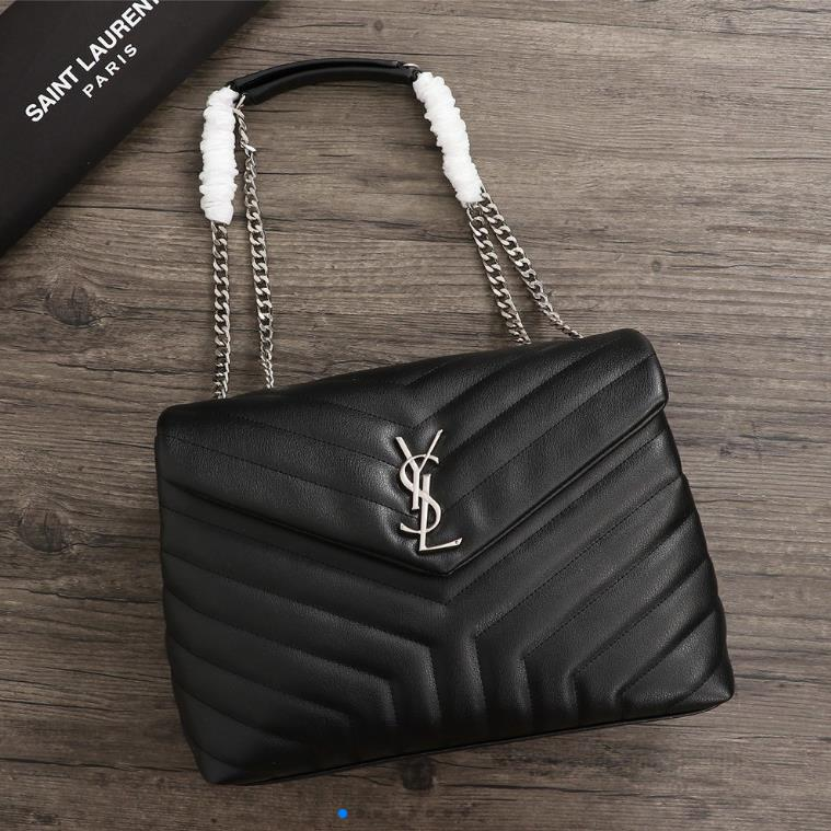 YSL WOMENS HANDBAG GENUINE LEATHER 26821 30CM