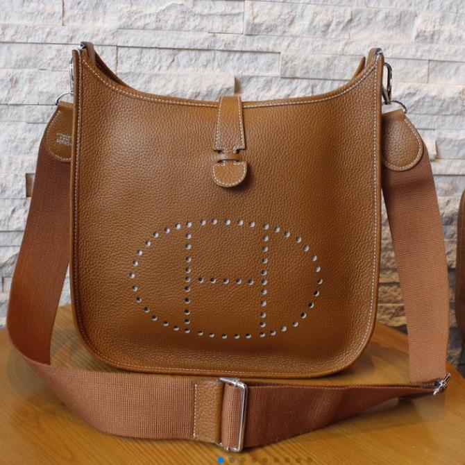 Hermes Evelyne BAG GENUINE LEATHER BIG SIZE 28x30x9cm