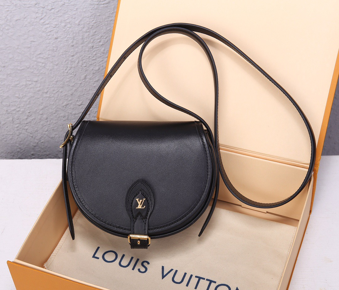 LV Tambourin BLACK RED GENUINE LEATHER M55505;SIZE:18x15x8CM