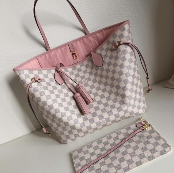LV NEVERFULL PINK N44363,SIZE:32×29×17 cm