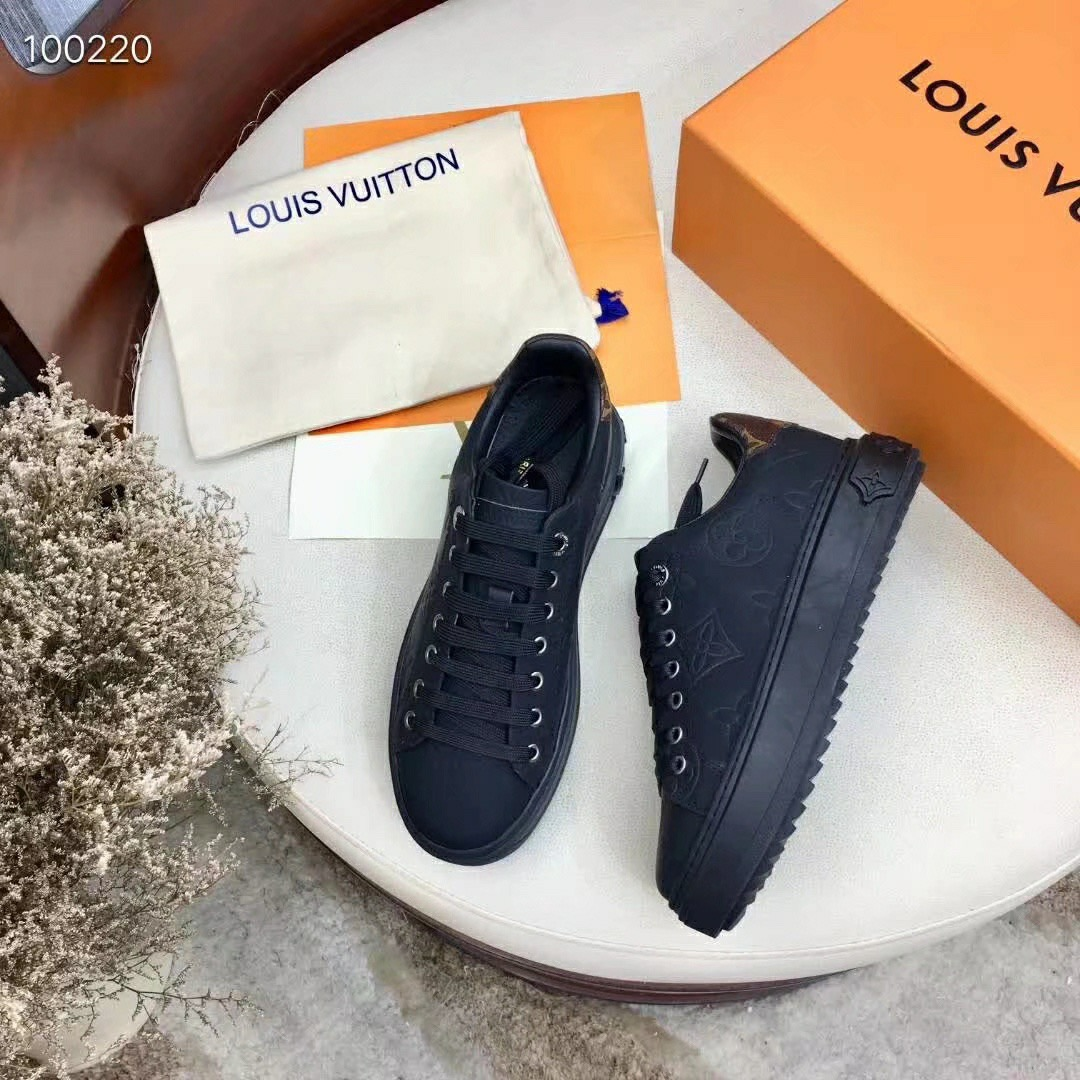 LV Monogram LEATHER WOMENS SHOES EUROPE  SIZE 34-42