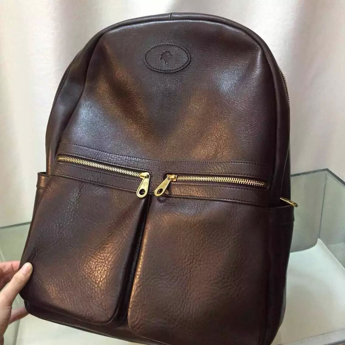 MULBERRY backpack  H44XW35XD22CM BROWN BLACK