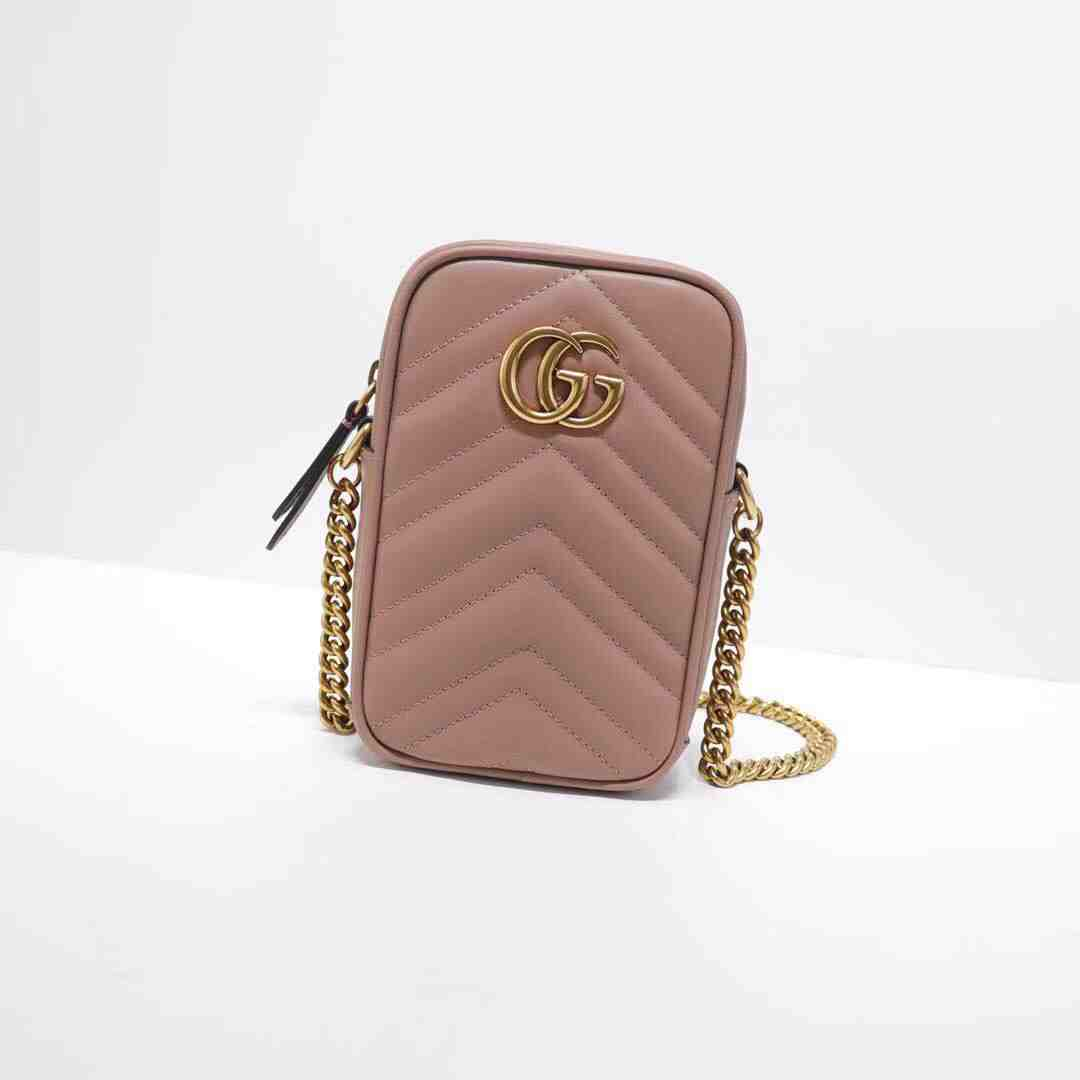 GUCCI WOMENS SMALL MINI PHONE BAG 598597 10.5X17X5CM WHITE RED BLACK PINK