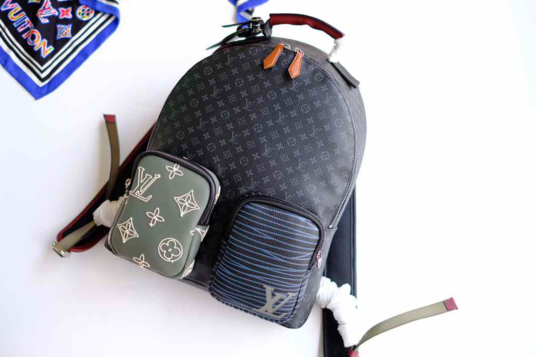 LV NEW BACKPACK BPACK PATCHWORK M56853  32.0x40.0x15.0cm